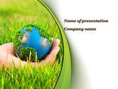 Nature & Environment: 파워포인트 템플릿 - 손에 지구 #09678