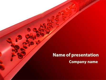 Medical: Red Blood Cells In A Blood Vessels PowerPoint Template #09680
