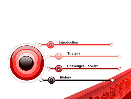 Red Blood Cells In A Blood Vessels PowerPoint Template, Slide 3, 09680, Medical — PoweredTemplate.com