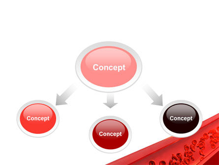 Red Blood Cells In A Blood Vessels PowerPoint Template, Slide 4, 09680, Medical — PoweredTemplate.com