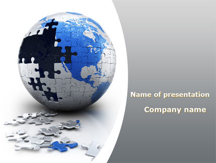 Global: Earth Puzzle PowerPoint Template #09681