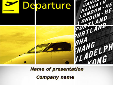 Cars and Transportation: Flughafenterminal PowerPoint Vorlage #09683