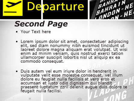 Airport Terminal PowerPoint Template, Slide 2, 09683, Cars and Transportation — PoweredTemplate.com