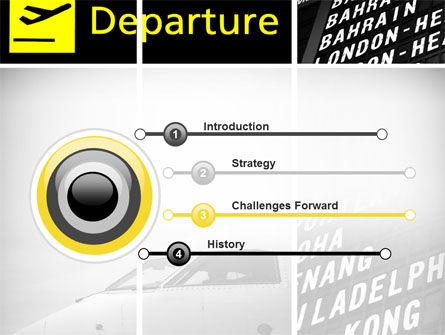 Airport Terminal PowerPoint Template, Slide 3, 09683, Cars and Transportation — PoweredTemplate.com