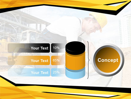 House Builder On Construction Site PowerPoint Template Slide 11