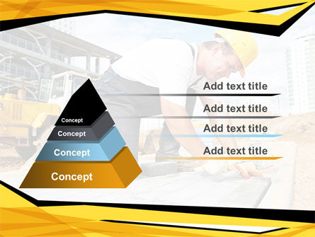 House Builder On Construction Site PowerPoint Template Slide 12