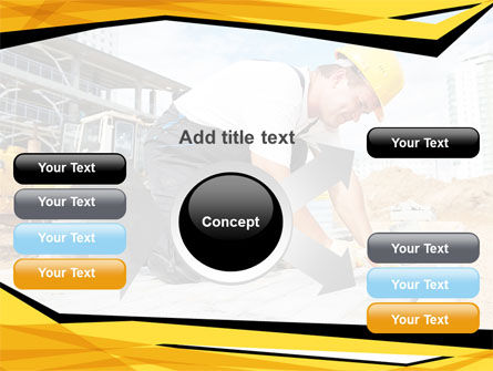 House Builder On Construction Site PowerPoint Template Slide 14