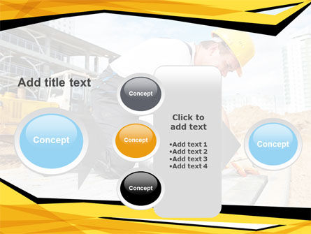 House Builder On Construction Site PowerPoint Template Slide 17