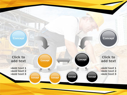 House Builder On Construction Site PowerPoint Template Slide 19