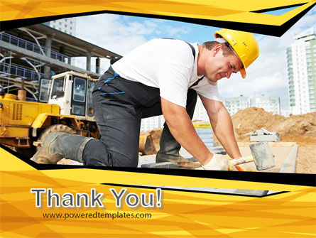 House Builder On Construction Site PowerPoint Template Slide 20