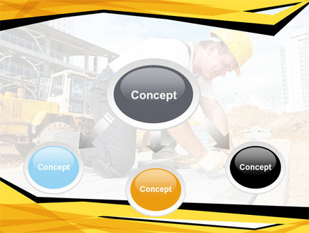 House Builder On Construction Site PowerPoint Template, Slide 4, 09684, Construction — PoweredTemplate.com