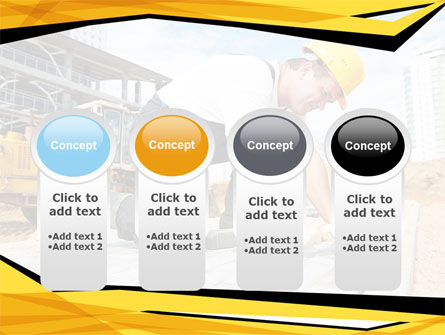 House Builder On Construction Site PowerPoint Template Slide 5
