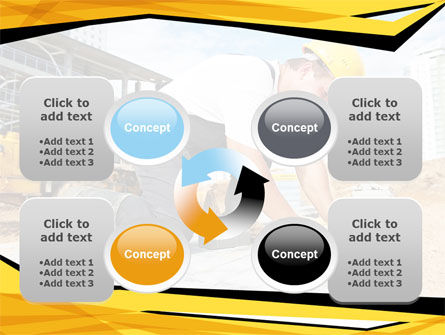 House Builder On Construction Site PowerPoint Template Slide 9