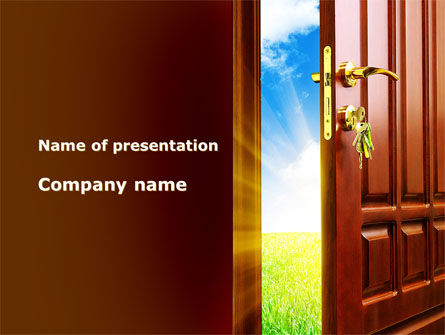 Door Into Summer PowerPoint Template, 09685, Construction — PoweredTemplate.com