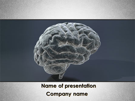 Medical: Human Brain Model PowerPoint Template #09687
