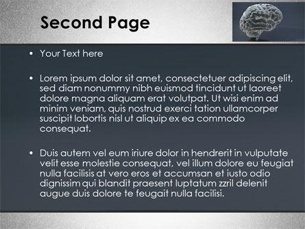 Human Brain Model PowerPoint Template, Slide 2, 09687, Medical — PoweredTemplate.com
