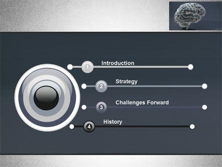 Human Brain Model PowerPoint Template, Slide 3, 09687, Medical — PoweredTemplate.com