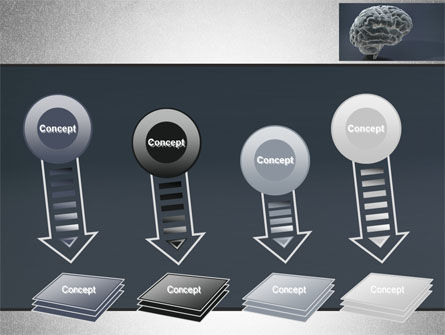 Human Brain Model PowerPoint Template Slide 8