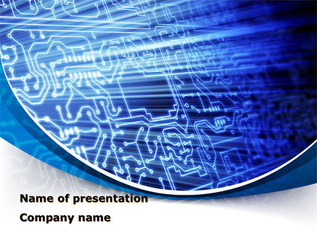 Print Circuit Board PowerPoint Template, 09688, Technology and Science — PoweredTemplate.com