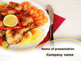 Food & Beverage: Fried Chicken PowerPoint Template #09689