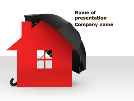 Home Insurance PowerPoint Template, 09690, Financial/Accounting — PoweredTemplate.com