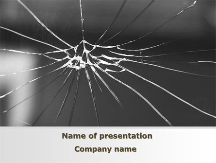 Consulting: Broken Glass PowerPoint Template #09695