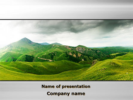 Clouds Landscape PowerPoint Template, 09696, Nature & Environment — PoweredTemplate.com