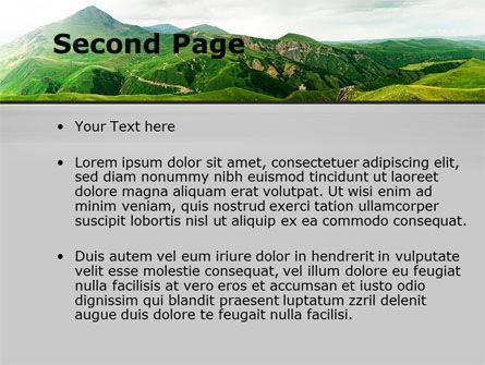 Clouds Landscape PowerPoint Template, Slide 2, 09696, Nature & Environment — PoweredTemplate.com