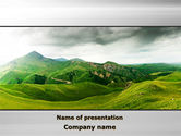 Nature & Environment: Clouds Landscape PowerPoint Template #09696