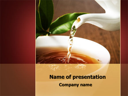 Food & Beverage: Stream Of Tea PowerPoint Template #09698