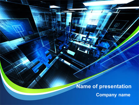 Virtual Office PowerPoint Template, 09699, Technology and Science — PoweredTemplate.com