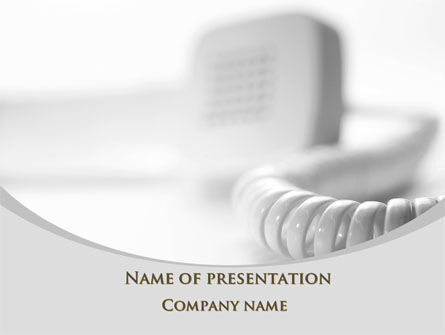 Telecommunication: Telephone Handset PowerPoint Template #09700