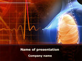 Medical: Feminine Lungs and Breast PowerPoint Template #09701