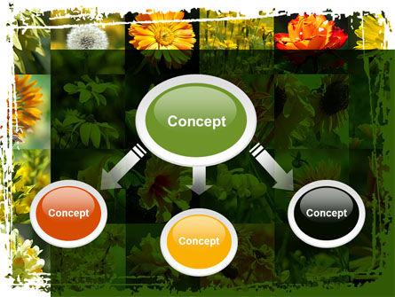 Flower Collage PowerPoint Template, Slide 4, 09702, Nature & Environment — PoweredTemplate.com