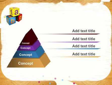 Cubes For Basic Education PowerPoint Template Slide 12