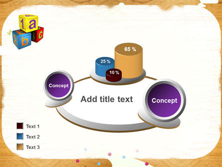 Cubes For Basic Education PowerPoint Template Slide 16