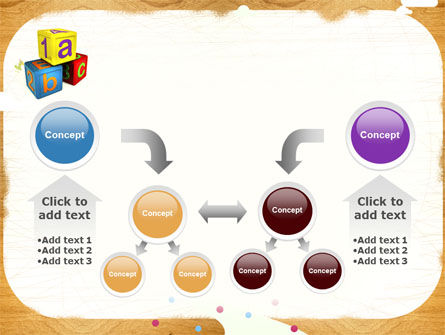 Cubes For Basic Education PowerPoint Template Slide 19
