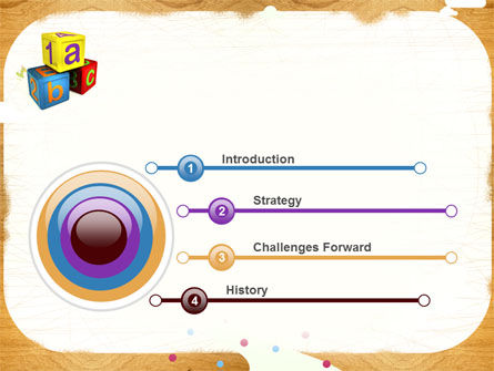 Cubes For Basic Education PowerPoint Template Slide 3