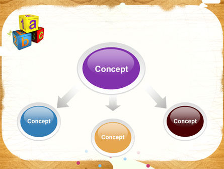 Cubes For Basic Education PowerPoint Template Slide 4