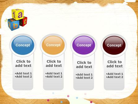 Cubes For Basic Education PowerPoint Template Slide 5