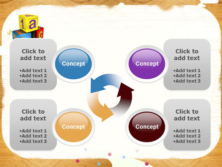 Cubes For Basic Education PowerPoint Template Slide 9