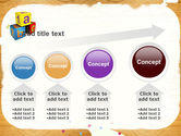 Cubes For Basic Education PowerPoint Template#13