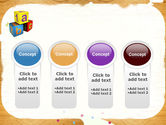 Cubes For Basic Education PowerPoint Template#5