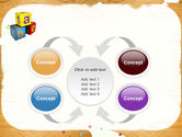 Cubes For Basic Education PowerPoint Template#6