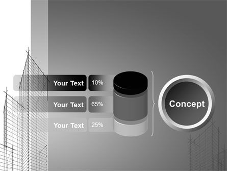 Sketch Of Skyscraper PowerPoint Template Slide 11