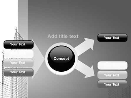 Sketch Of Skyscraper PowerPoint Template Slide 14