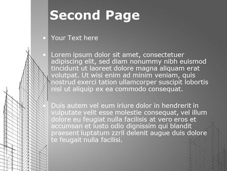 Sketch Of Skyscraper PowerPoint Template, Slide 2, 09705, Construction — PoweredTemplate.com