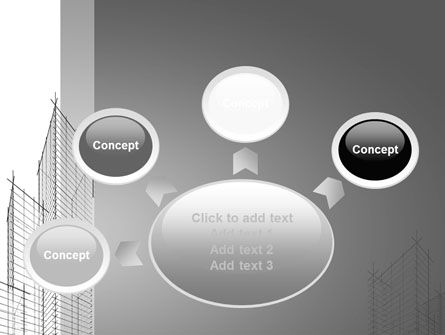 Sketch Of Skyscraper PowerPoint Template Slide 7
