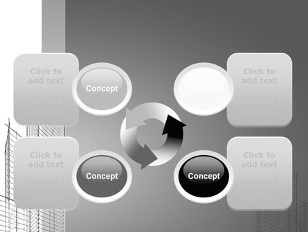 Sketch Of Skyscraper PowerPoint Template Slide 9