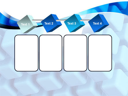 Blue Cubes Conglomerate PowerPoint Template Slide 18